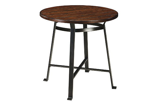 Challiman Dining Room Pub Table by Ashley HomeStore, Brown
