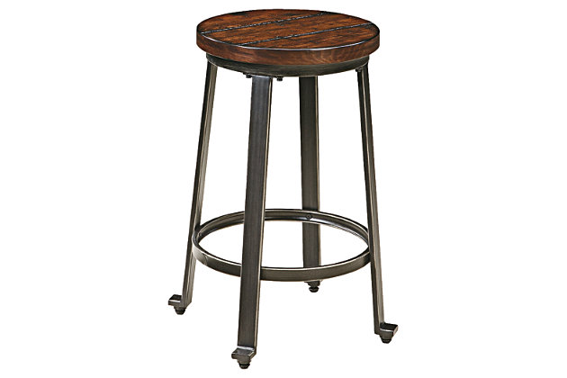 Terrific Challiman Counter Height Bar Stool Ashley Furniture Homestore Gmtry Best Dining Table And Chair Ideas Images Gmtryco