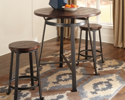 Information about Height Dining Room Table Rustic Brown Counter Product Photo