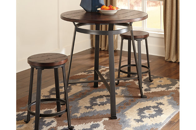 Stunning Challiman Counter Height Dining Room Table Product Photo