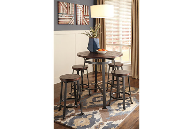 Challiman Counter Height Dining Room Table, , large