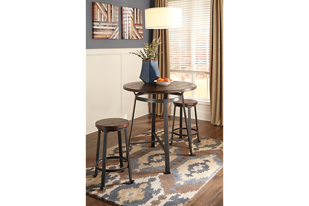Challiman Counter Height Dining Room Table Ashley Furniture HomeStore