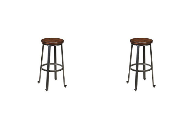 Challiman Bar Height Bar Stool Ashley Furniture Homestore