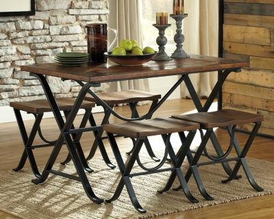 Popular Room Table Stools Medium Brown Dining Product Photo