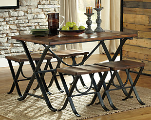 Freimore Dining Room Table and Stools (Set of 5), , rollover
