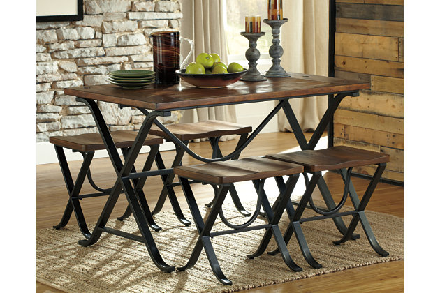 Freimore Dining Room Table and Stools (Set of 5) by Ashle...