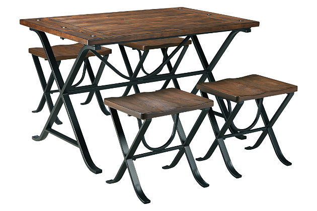 Freimore Dining Room Table and Stools (Set of 5), , large