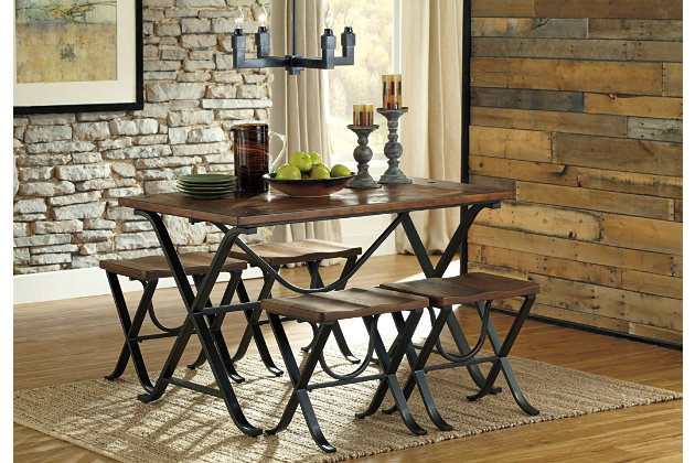 Freimore Dining Room Table and Stools Set of 5