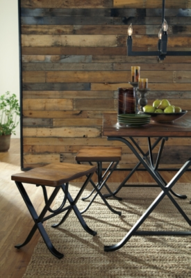 Freimore Dining Room Table and Stools Set of 5 Ashley