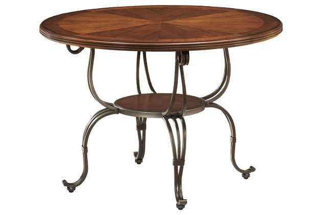 Plentywood Table Top and Base by Ashley HomeStore, Brown