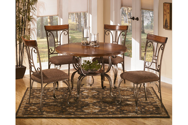 plentywood table top and base | ashley furniture homestore