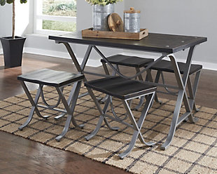 Elistree Dining Room Table and Stools (Set of 5), , rollover