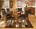 Medium Brown Lacey Dining Room Table View 3