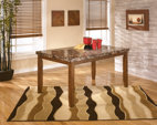 Medium Brown Lacey Dining Room Table View 1