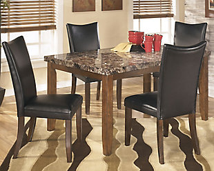 Charrell Dining Table and 4 Chairs, Black, rollover