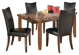 Charrell Dining Table and 4 Chairs, Black, large