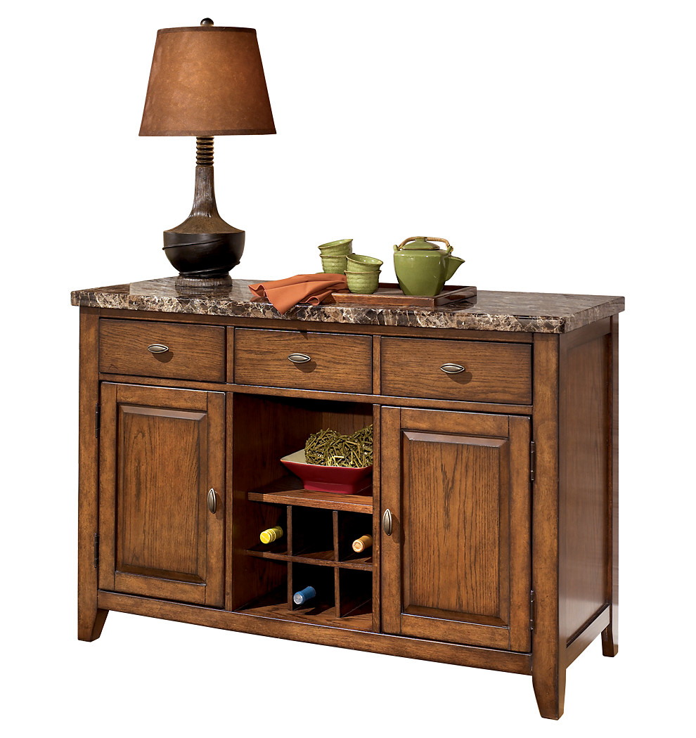 Lacey dining room server ashley furniture dining room hutch for Dining room table and buffet sets