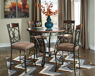Glambrey Counter Height 5 Piece Dining Room, , rollover