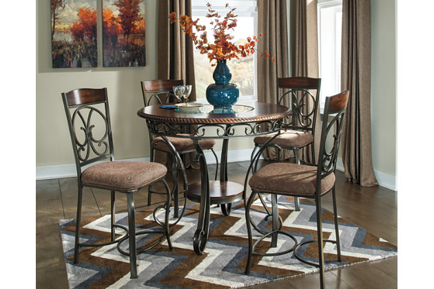 brown glambrey counter height dining room table view 2 - Dining Room Table Height
