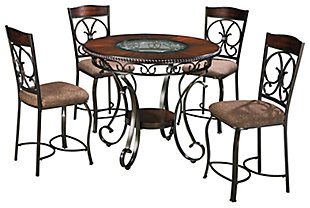 Glambrey Counter Height Dining Table and 4 Barstools, , large