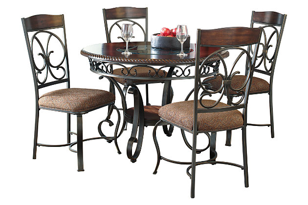 Glambrey Dining Table and 4 Chairs Set