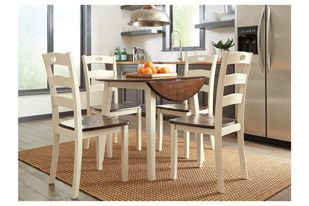 Woodanville Dining Table and 4 Chairs Set