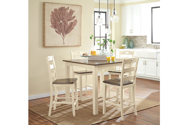 Woodanville Counter Height Dining Room Table And Bar