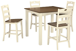 Woodanville Counter Height Dining Table and Bar Stools (Set of 5), , large
