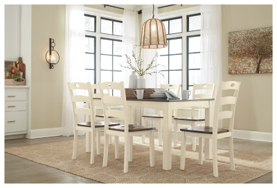 Room Table Chairs Cream Brown Dining Product Photo 1368