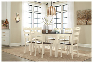 Woodanville Dining Table and Chairs (Set of 7), , rollover