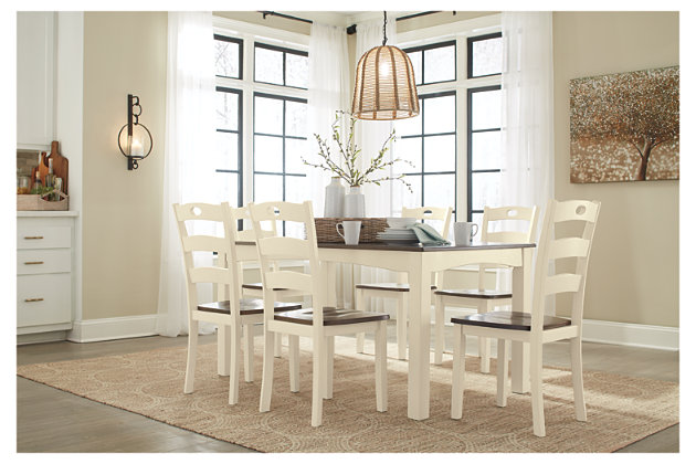 Woodanville Dining Room Table And Chairs (Set Of 7), , Large ...