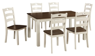 Woodanville Dining Room Table and Chairs Set of 7 Ashley