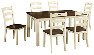 Woodanville Dining Table and Chairs (Set of 7), , large