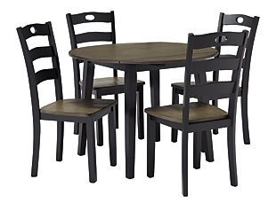 Froshburg Dining Table and 4 Chairs, , large