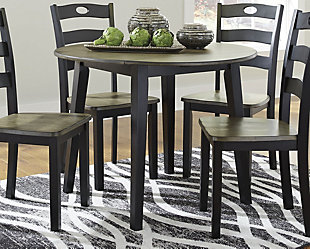 Froshburg Dining Room Drop Leaf Table, , large