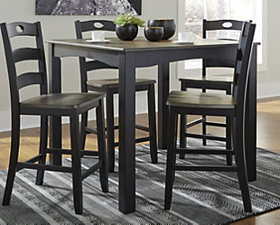 Froshburg Counter Height Dining Table and Bar Stools (Set of 5), , rollover