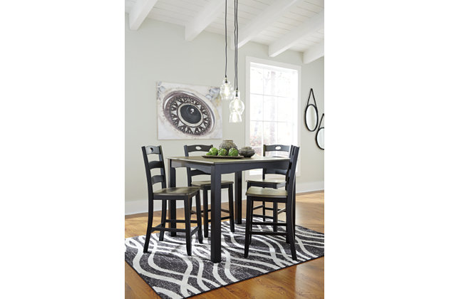 Froshburg Counter Height Dining Room Table and Bar Stools (Set of 5), , large