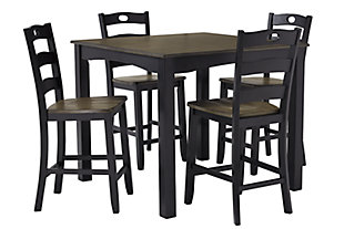 Froshburg Counter Height Dining Table and Bar Stools (Set of 5), , large