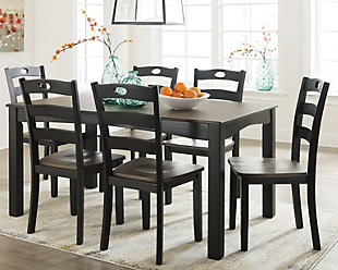 Froshburg Dining Room Table and Chairs (Set of 7), , rollover