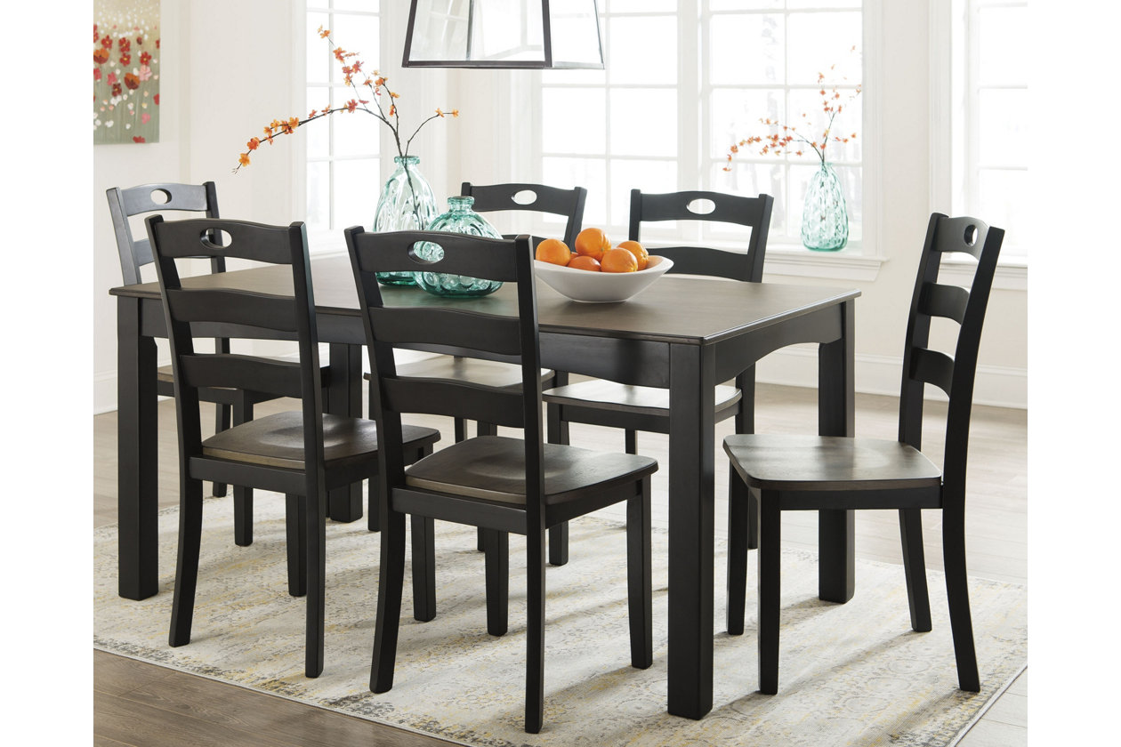 Froshburg Dining Room Table and Chairs (Set of 7) | Ashley ...