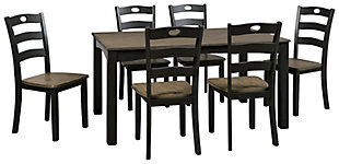 Froshburg Dining Room Table and Chairs (Set of 7), , large