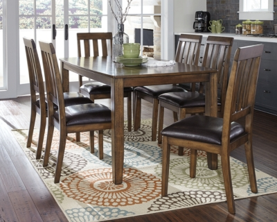 Picture of: Puluxy Dining Room Table And Chairs Set Of 7 Ashley Furniture Homestore