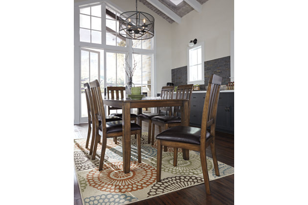 Puluxy Dining Room Table and Chairs (Set of 7), , large
