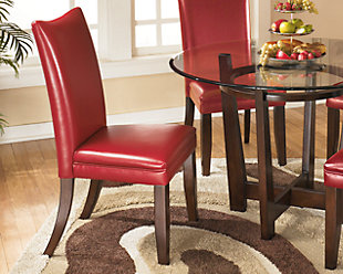 ... Large Charrell Dining Room Chair, Red, Rollover