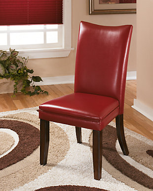 Charrell Dining Table and 4 Chairs, Red, large