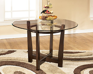 Charrell Dining Table and 4 Chairs, Medium Brown, large