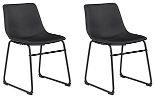 Centiar Dining Table and 4 Chairs, Black, large