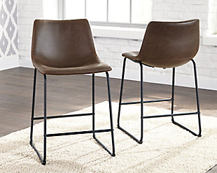 Centiar Counter Height Bar Stool, Brown/Black, rollover