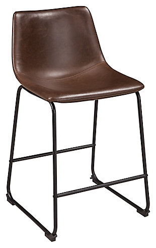 Centiar Counter Height Bar Stool, Brown/Black, large