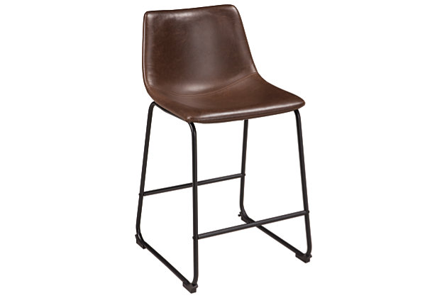 Centiar Counter Height Bar Stool, Brown, large